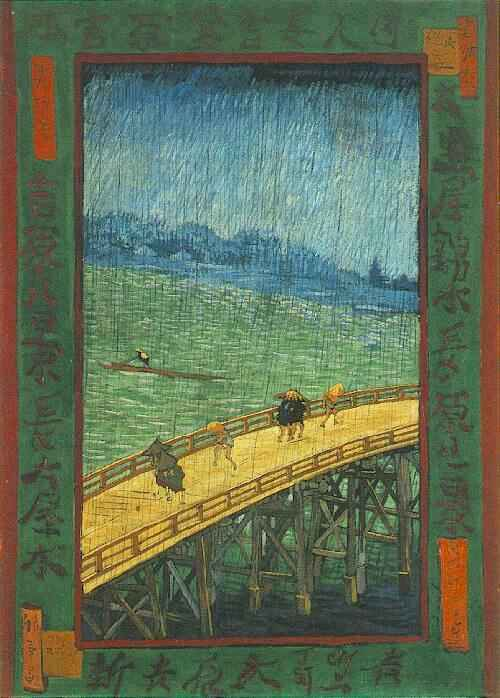 Bridge in the Rain (after Hiroshige) by Van Gogh