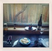 window with wine & crackers by Katie Heath