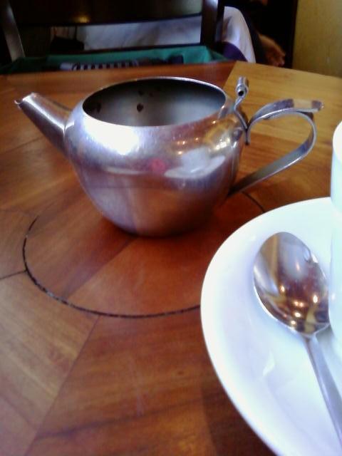 Indira Ganesan, Algiers teapot and spoon, 2013
