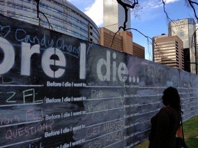 Cynthia Morris, Viewing Before I Die Project, Denver, 2013