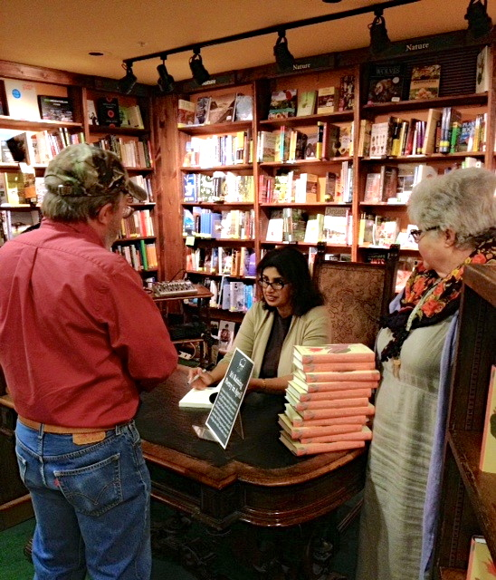 Cynthia Morris, IG with Tattered Cover customer & Pat, 2013