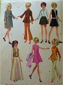 Mccalls 9605 Sewing Pattern 1960s Teenage Wardrobe for Barbie: Gene Outfit, Coat Apron Dress from http://www.amazon.com/Mccalls-Sewing-Pattern-Teenage-Wardrobe/dp/B007BFLG6O