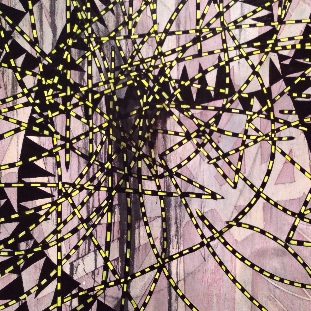 Detail, Charline von Heyl, Concetto Spaziale 2009 Hunting Collecection, MoMA